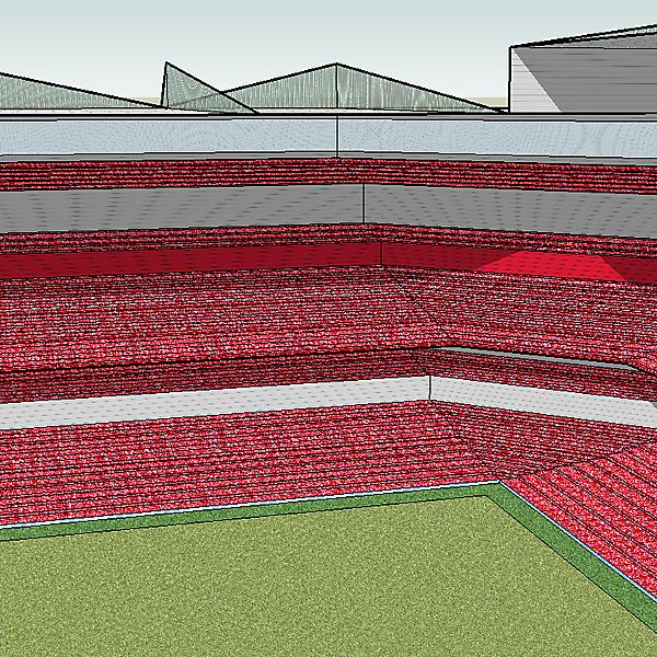 Football Stadium Design 1 (Angle 2)