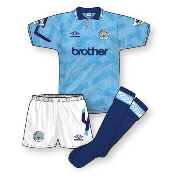Manchester City 1992-93 Home Kit