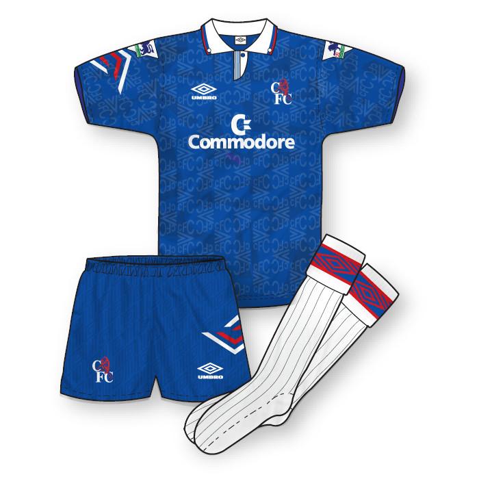 Chelsea 1992-93 Home Kit