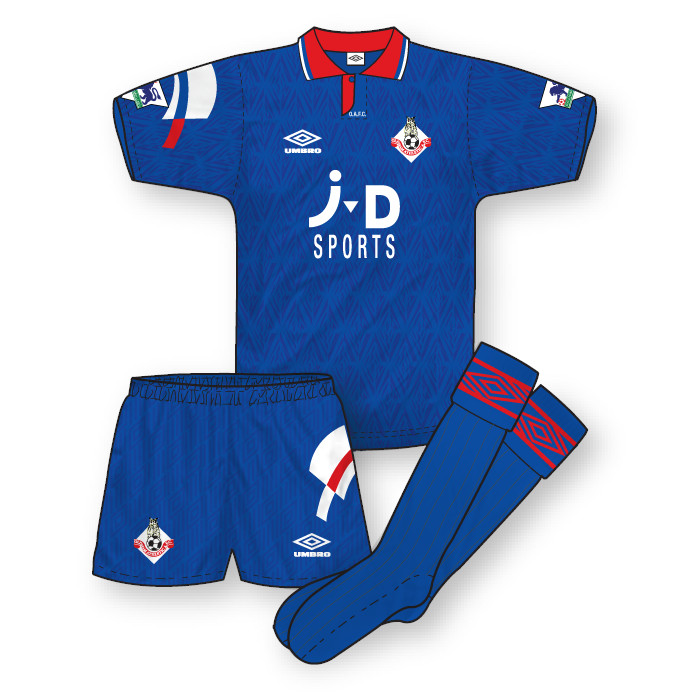 Oldham Athletic 1992-93 Home Kit